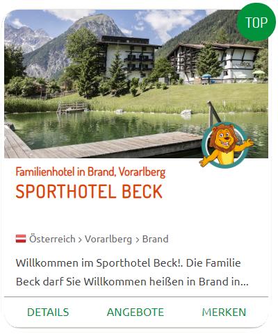 Familienurlaub im Sporthotel Beck